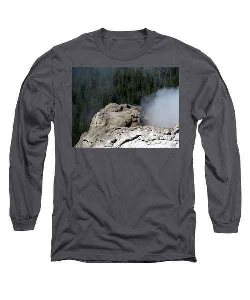 A Smoking Man. Yellowstone Hot Springs Long Sleeve T-Shirt