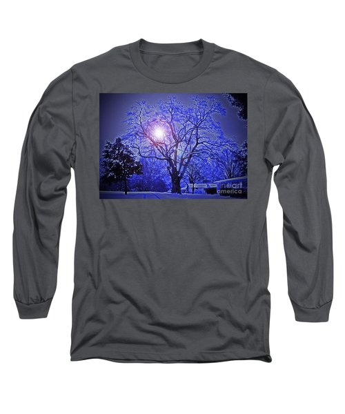 A Snow Glow Evening Long Sleeve T-Shirt by Lydia Holly