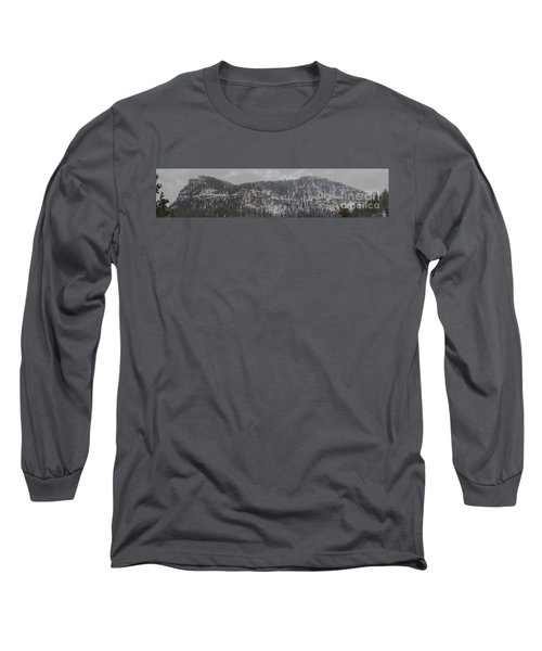 A Snowy Day In Spearfish Canyon Of South Dakota Long Sleeve T-Shirt