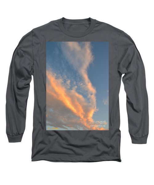 A Splash Of Peach Long Sleeve T-Shirt