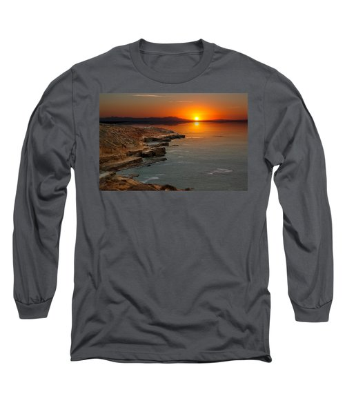 Long Sleeve T-Shirt featuring the photograph A Sunset by Lynn Geoffroy