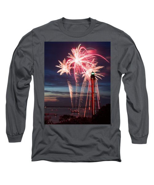 A Three Burst Salvo Of Fire For The Fourth Of July Long Sleeve T-Shirt