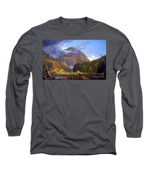 A View Of The Mountain Pass Called The Notch Of The White Mountans By Thomas Cole Long Sleeve T-Shirt
