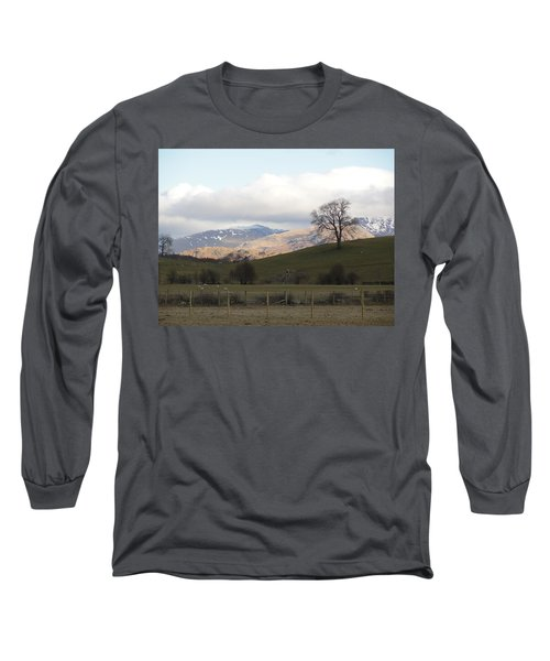Long Sleeve T-Shirt featuring the photograph A Walk In The Countryside In Lake District England by Tiffany Erdman