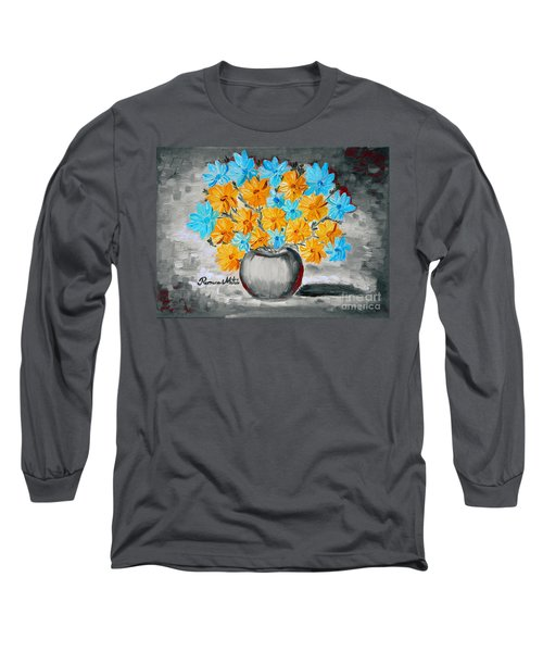 A Whole Bunch Of Daisies Selective Color II Long Sleeve T-Shirt by Ramona Matei
