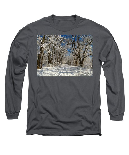 Long Sleeve T-Shirt featuring the photograph A Winter Road by Raymond Salani III