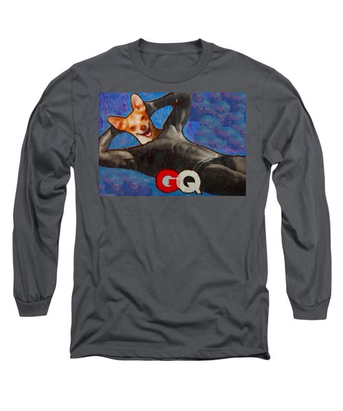 Long Sleeve T-Shirt featuring the painting A Woman's Best Friend  by Lisa Piper