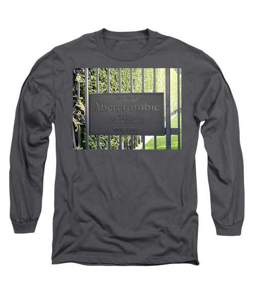 Abercrombie And Fitch Store In Paris France Long Sleeve T-Shirt by Richard Rosenshein