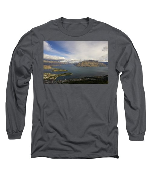Above Queenstown #2 Long Sleeve T-Shirt by Stuart Litoff