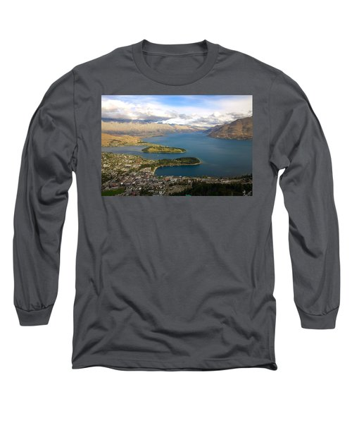 Above Queenstown Long Sleeve T-Shirt by Stuart Litoff
