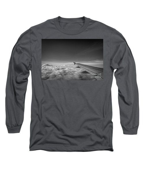 Above The Clouds Bw Long Sleeve T-Shirt
