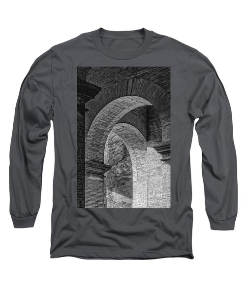 Abstract Arches Colosseum Mono Long Sleeve T-Shirt by Antony McAulay