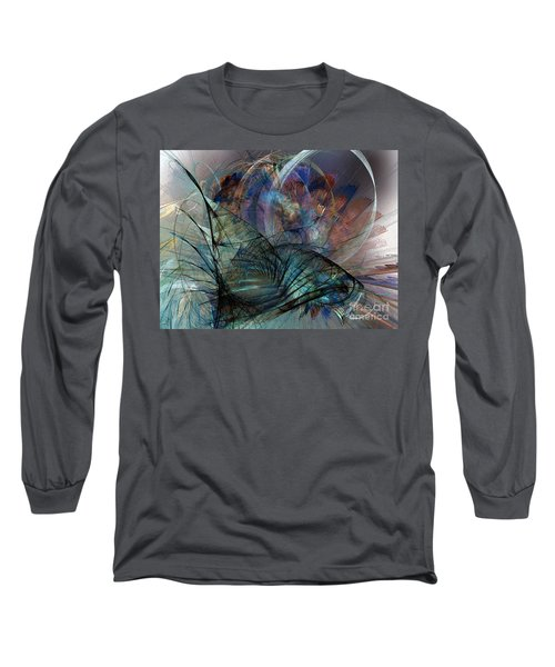 Abstract Art Print In The Mood Long Sleeve T-Shirt