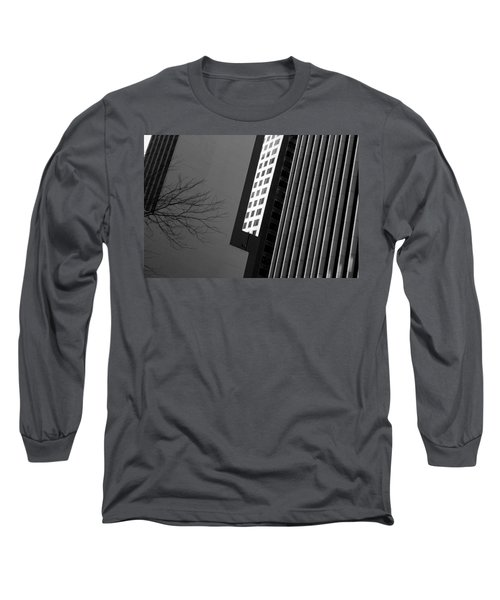Abstract Building Patterns Black White Long Sleeve T-Shirt