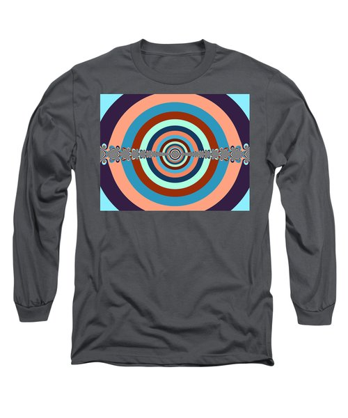 Long Sleeve T-Shirt featuring the digital art Abstract Dart Board by Ester  Rogers