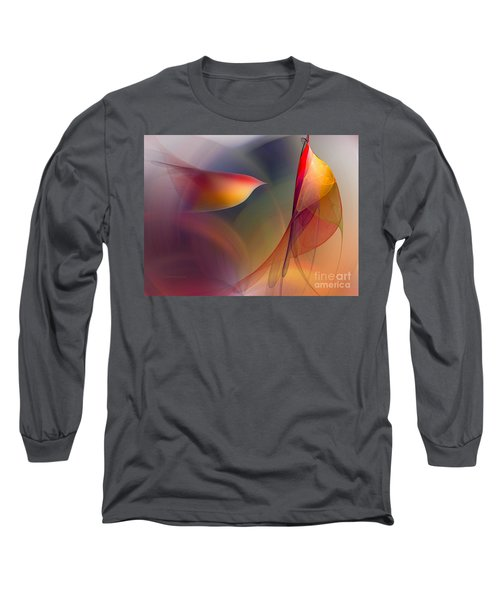 Abstract Fine Art Print Early In The Morning Long Sleeve T-Shirt by Karin Kuhlmann