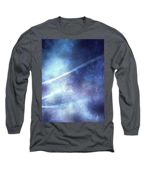 Abstract Frozen Glass Long Sleeve T-Shirt