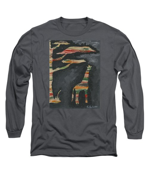 Abstract Giraffe Long Sleeve T-Shirt