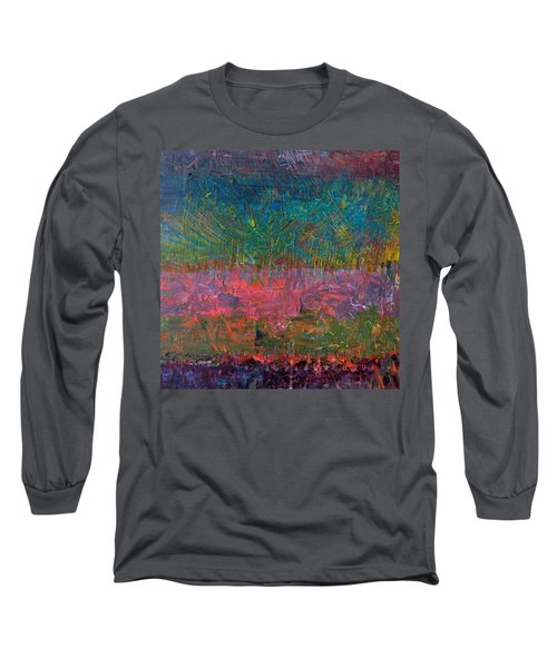 Abstract Landscape Series - Wildflowers Long Sleeve T-Shirt