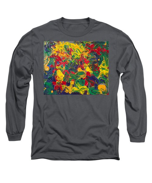 Abstract Painting - Color Explosion Long Sleeve T-Shirt