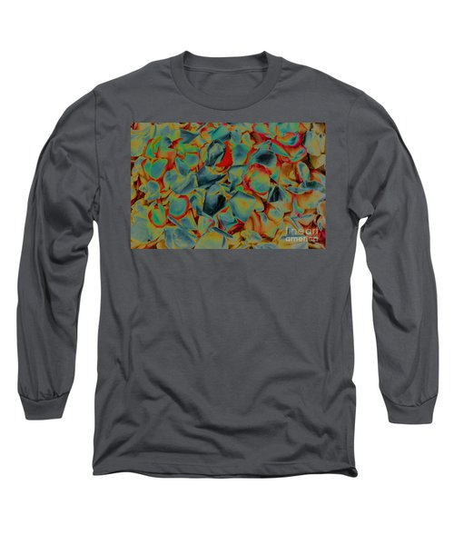 Long Sleeve T-Shirt featuring the photograph Abstract Rose Petals by Mae Wertz