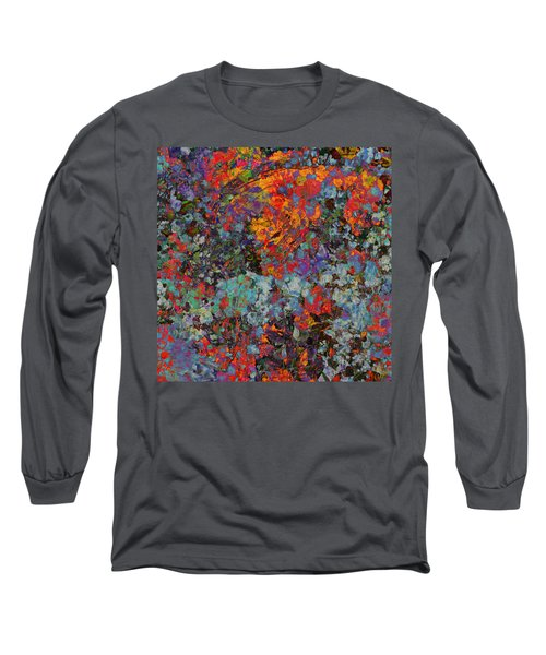 Long Sleeve T-Shirt featuring the mixed media Abstract Spring by Ally  White