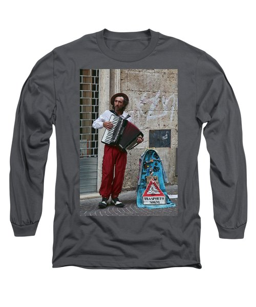 Accordian Player Long Sleeve T-Shirt