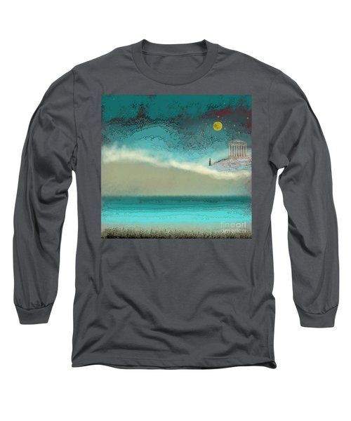 Acropolis In Moonlight Long Sleeve T-Shirt by Carol Jacobs