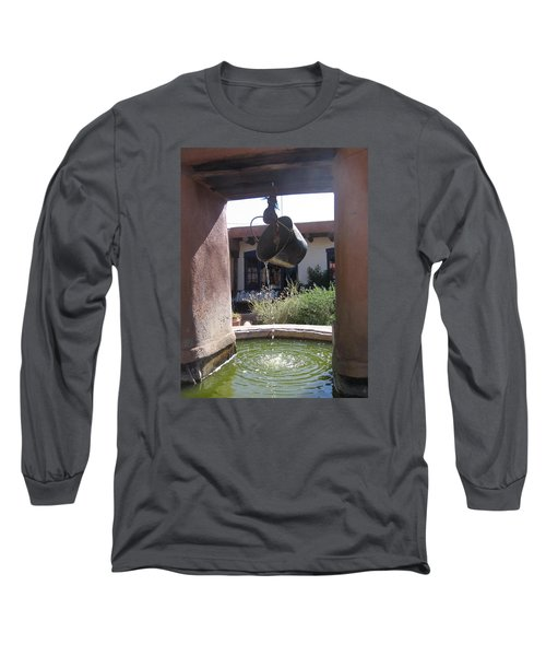 Long Sleeve T-Shirt featuring the photograph Adobe Water Well In New Mexico by Dora Sofia Caputo Photographic Art and Design