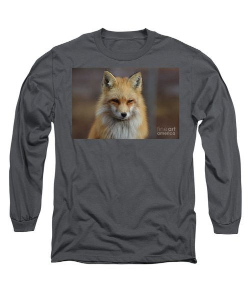Adorable Red Fox Long Sleeve T-Shirt