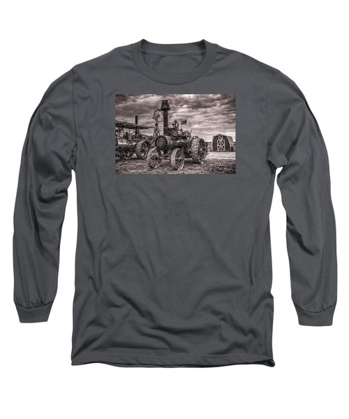 Advance Steam Traction Engine Long Sleeve T-Shirt by Shelly Gunderson