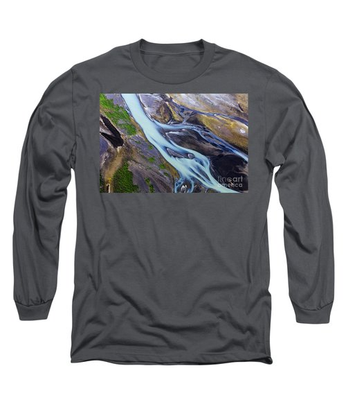 Aerial Photo Of Iceland  Long Sleeve T-Shirt