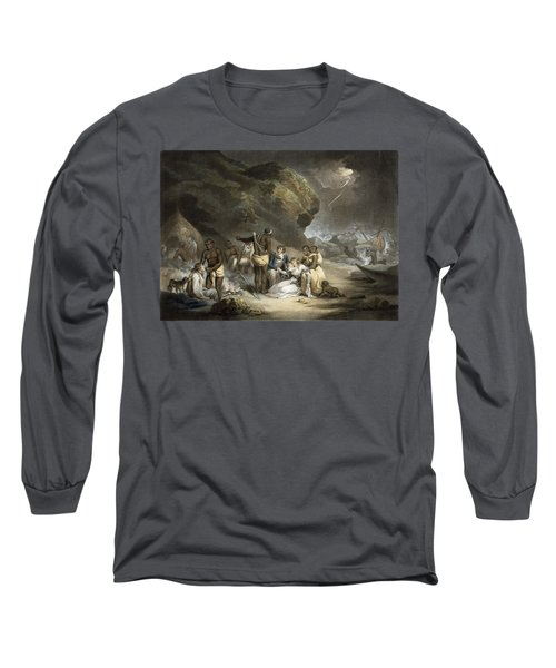 African Hospitality, Engraved By John Raphael Smith, 1791 Mezzotint Long Sleeve T-Shirt
