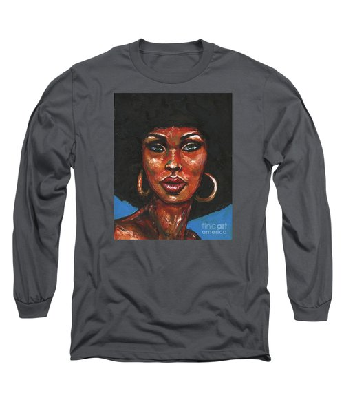 Long Sleeve T-Shirt featuring the painting Well Hello by Alga Washington
