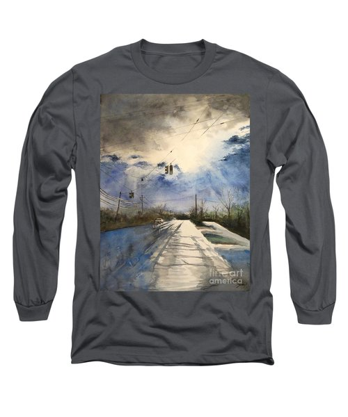 After Rain -on The Michigan Ave. Saline Michigan Long Sleeve T-Shirt by Yoshiko Mishina