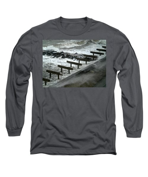Long Sleeve T-Shirt featuring the photograph After Storm Sandy by Joan Reese