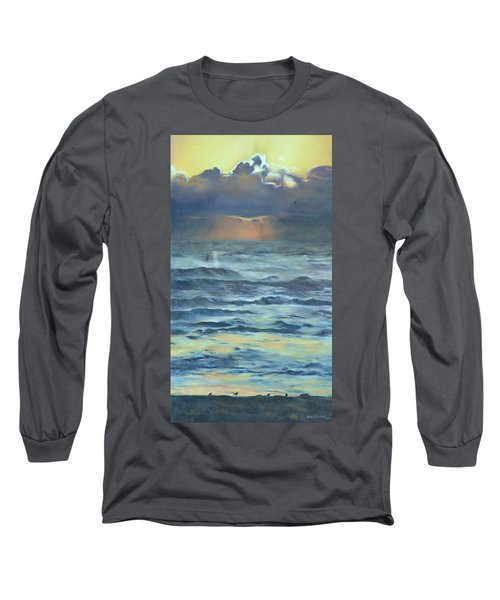 Long Sleeve T-Shirt featuring the painting After The Storm by Lori Brackett