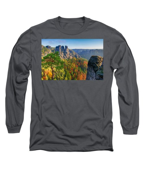 After The Sunrise On The Bastei Long Sleeve T-Shirt