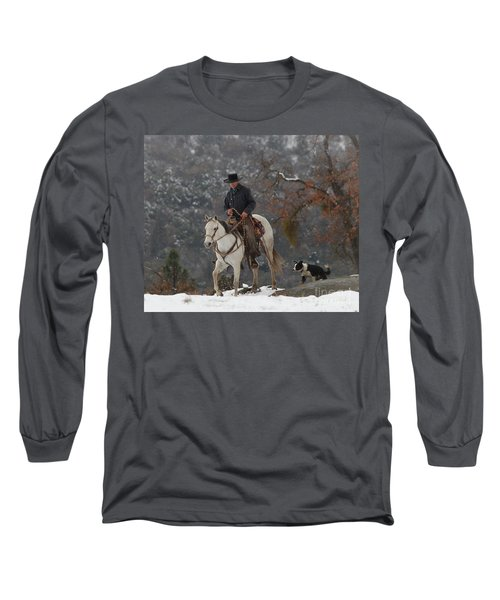 Ahwahnee Cowboy Long Sleeve T-Shirt by Diane Bohna