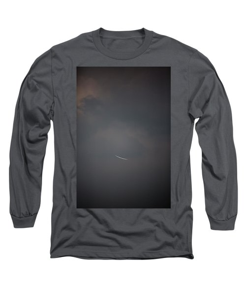 Aircraft Surrounded By Dramatic Dark Long Sleeve T-Shirt