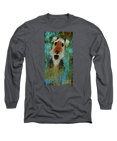 Airedale Terrier Long Sleeve T-Shirt by Genevieve Esson