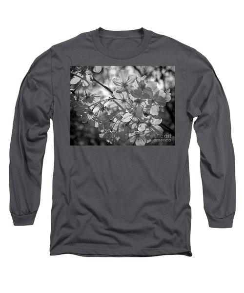 Akebono In Monochrome Long Sleeve T-Shirt by Peggy Hughes
