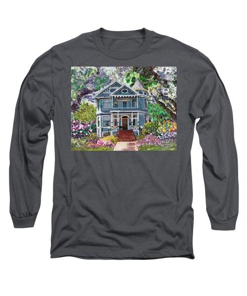 Alameda 1890 Queen Anne Long Sleeve T-Shirt by Linda Weinstock