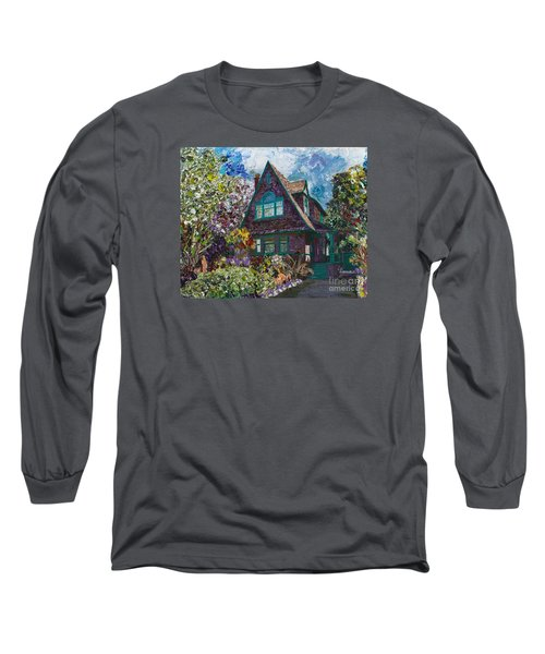 Alameda 1907 Traditional Pitched Gable - Colonial Revival Long Sleeve T-Shirt by Linda Weinstock