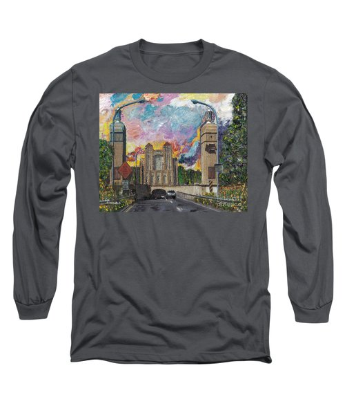 Alameda Webster Posey Tube Portal 1928 Long Sleeve T-Shirt by Linda Weinstock