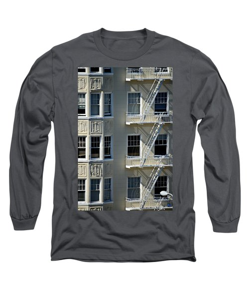 Long Sleeve T-Shirt featuring the photograph Alamo Square San Francisco by Steven Richman