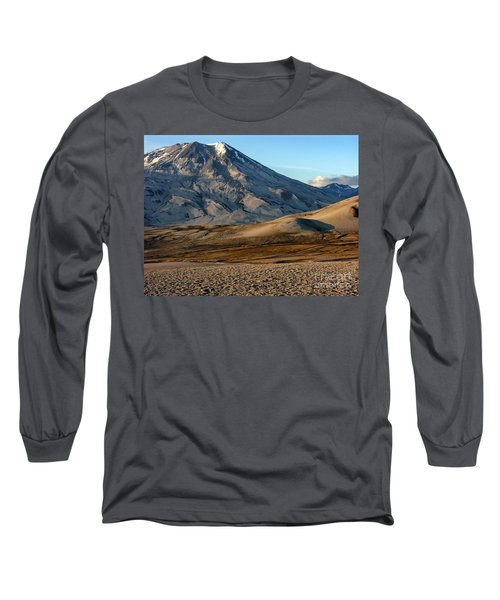 Long Sleeve T-Shirt featuring the photograph Alaska Landscape Scenic Mountains Snow Sky Clouds by Paul Fearn