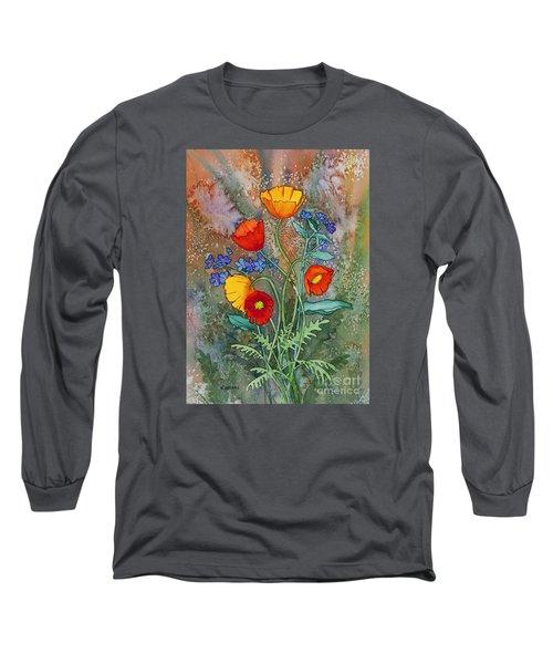 Alaska Poppies And Forgetmenots Long Sleeve T-Shirt