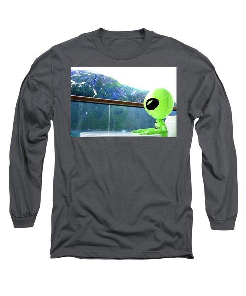 Alaska While Waiting For Coffee Long Sleeve T-Shirt