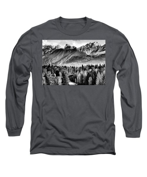 Alaskan Mountains Long Sleeve T-Shirt